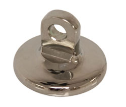 "Chrome Bronze Cavitation Plate Pad - 3/8"" Eyelet"
