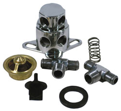 Polished Stainless Thermostat Kit For 455 Olds