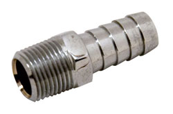 "Chrome Plated Brass 3/8"" NPT Male To 1/2"" Hose Fitting"