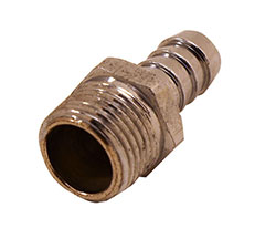 "Chrome Plated Brass 1/2"" NPT Male To 1/2"" Hose Fitting"