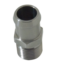 "Stainless Steel 1/2"" NPT Male To 3/4"" Hose Fitting"