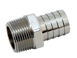 "Chrome Plated Brass 1"" NPT Male To 1"" Hose Fitting"