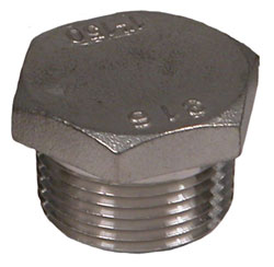 "1"" NPT Stainless Steel Pipe Plug"