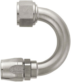 Super Nickel 180 Degree Double-Swivel AN Hose End