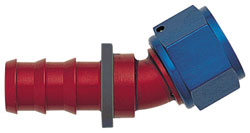 Blue/Red 30 Degree Push-On Hose End