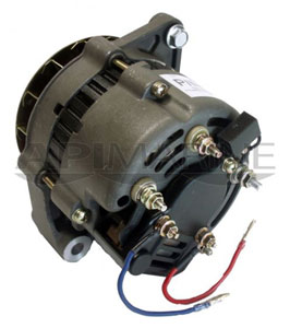 Mercruiser, OMC, Volvo Penta 12V 65-Amp Mando Style Alternator 6-Groove Serpentine Pulley, Replaces