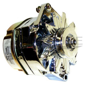 Mercruiser & Others 1-Wire Alternator 12V 94-Amp Chrome