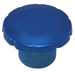 "2"" Screw Top Fuel Fill - Blue"