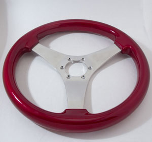 Formula S Steering Wheel, Red