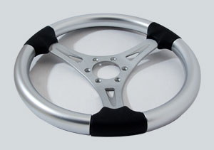 "13-1/2"" Platinum Gussi Firenza Steering Wheel"