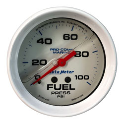 "0-100PSI Fuel Pressure Gauge 2-5/8"" (Liquid Filled)"