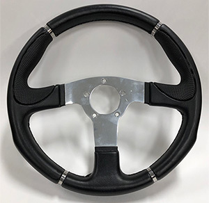 "13-1/2"" Century Steering Wheel with Polished Solid Spokes - Discontinued Model"