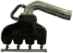460 Ford Cast Aluminum Exhaust System with Standard Wet Offshore Tailpipes