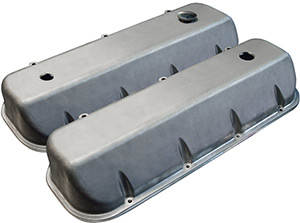 Xtreme Series Valve Covers, Satin with 3 Holes Machined