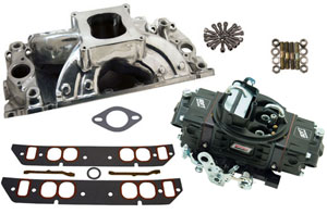 HP 500 Style Intake/Carburetor Package with Polished Intake - Oval Port