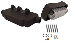 15 Plate Stainless Steel Oil Cooler Kit (Port)