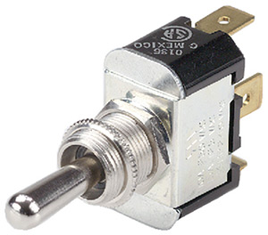 "Ancor Nickel Plated Brass Toggle Switch Spst On-Off (Toggle Is Bat With 1/4"" Tab)"""