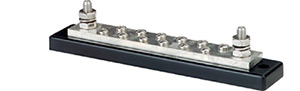 "Blue Sea Systems 2105 Maxibus 250a Busbar - Two 5/16""-18 Studs And Twelve #10-24 Screws"""