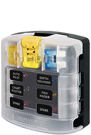 Blue Sea Systems 5029 St Blade Common Source Ato/Atc Fuse Block - 12 Circuits With Cover