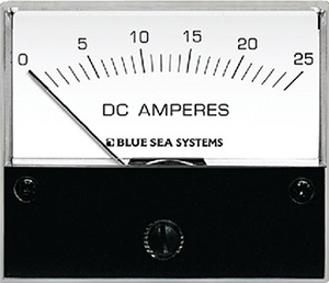Blue Sea Systems 8005 Dc Analog Ammeter - 0 To 25a With Shunt
