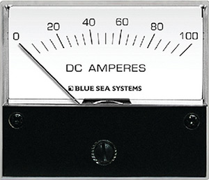 Blue Sea Systems 8017 Dc Analog Ammeter - 0 To 100a With Shunt