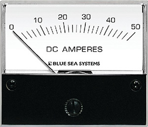 Blue Sea Systems 8022 Dc Analog Ammeter - 0 To 50a With Shunt