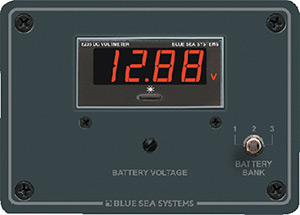Blue Sea Systems 8051 Traditional Digital Voltmeter Panel - 7 To 60v Dc