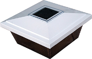 Dock Edge Solar Rechargeable Caplite White 4""