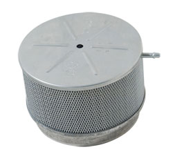 "5-3/4"" x 4"" High Flame Arrestor with Vent Tube, Aluminum"