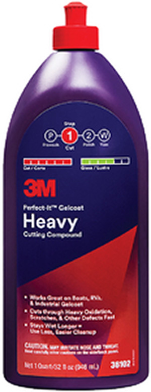Perfect-It Gelcoat Heavy Cutting Compound, Qt.