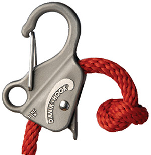 "Slide Anchor Stainless Steel Danik Hook For 3/8"" to 5/8"" Line, Holds Up to 8,000 lbs."""