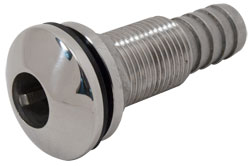 "5/8"" Slip-On Hose Stainless Steel Water Discharge Fitting"