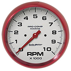 "5"" Autometer 10000 RPM Tachometer Gauge - Custom Colored Rim"