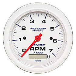 "Autometer 3-3/8"" 7000 RPM Pro-Comp Tachometer with Hourmeter"