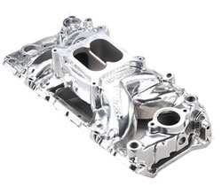Big Block Chevy Oval Port Polished RPM Air-Gap Manifold