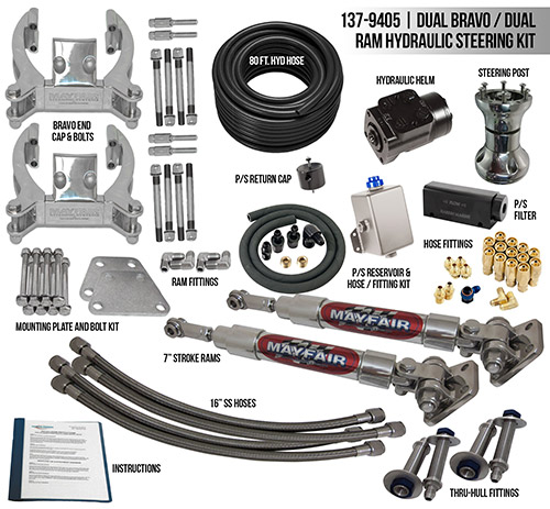 Mayfair Dual Bravo/Dual Ram Full Hydraulic Steering Kit