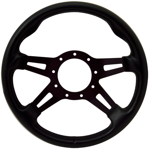 "13"" Black Grip / Slot Spoke F9 Steering Wheel"