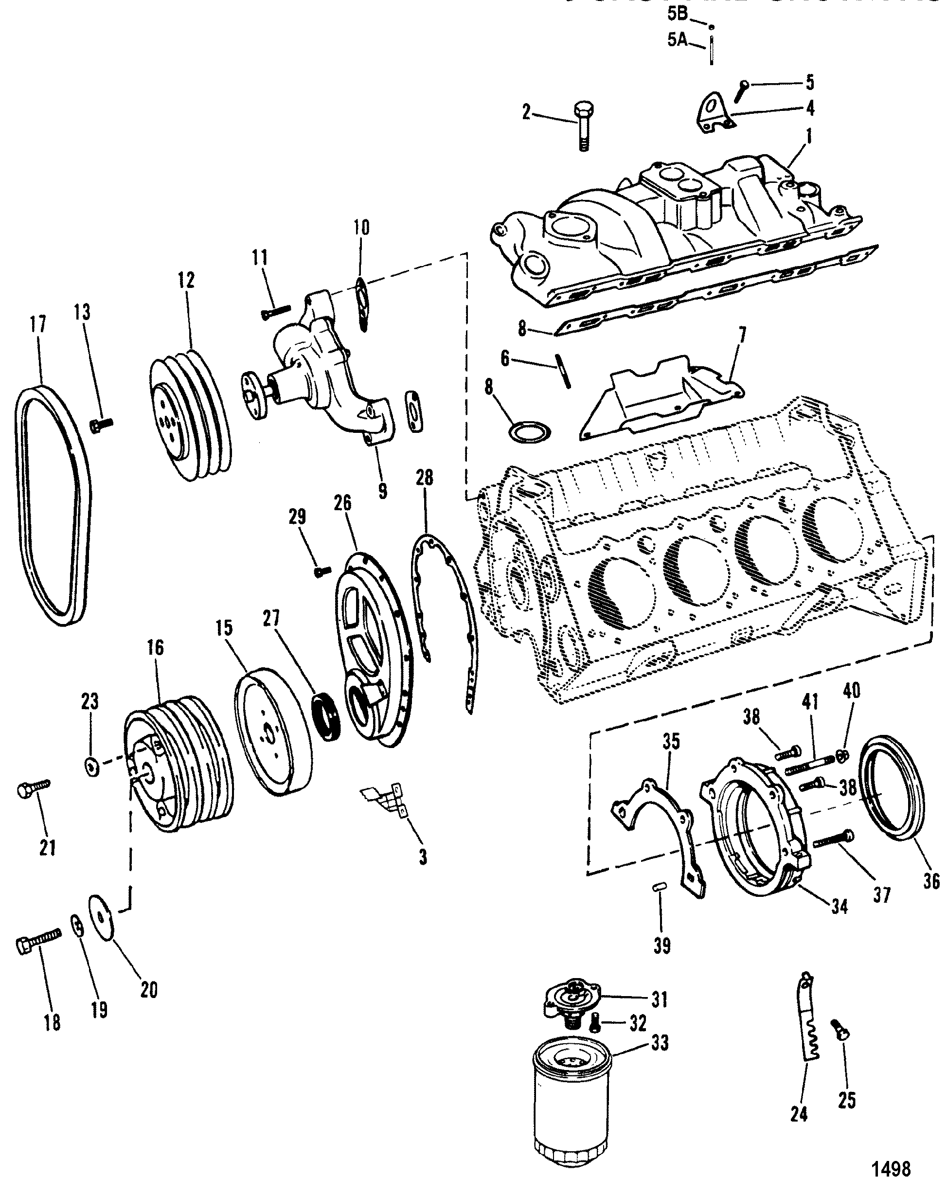 gm 350 intake manifold to engine diagram wiring diagram K1500 Suspension Diagram cp performance intake manifold and front cover design ii 5 7l gm 350 v