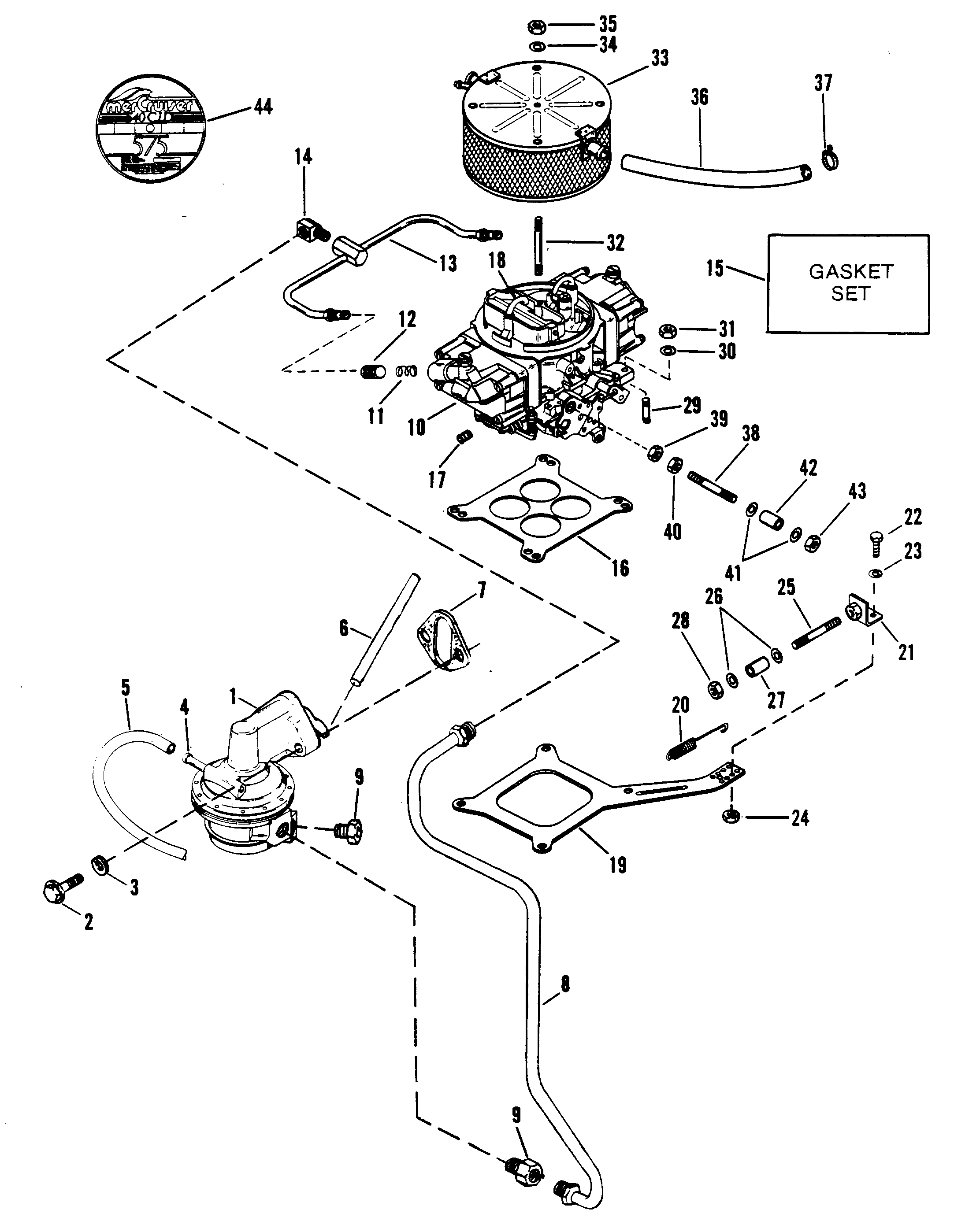 Cp Performance Fuel Pump Carburetor And Linkage Drawing Section Hover Or Click To View Larger