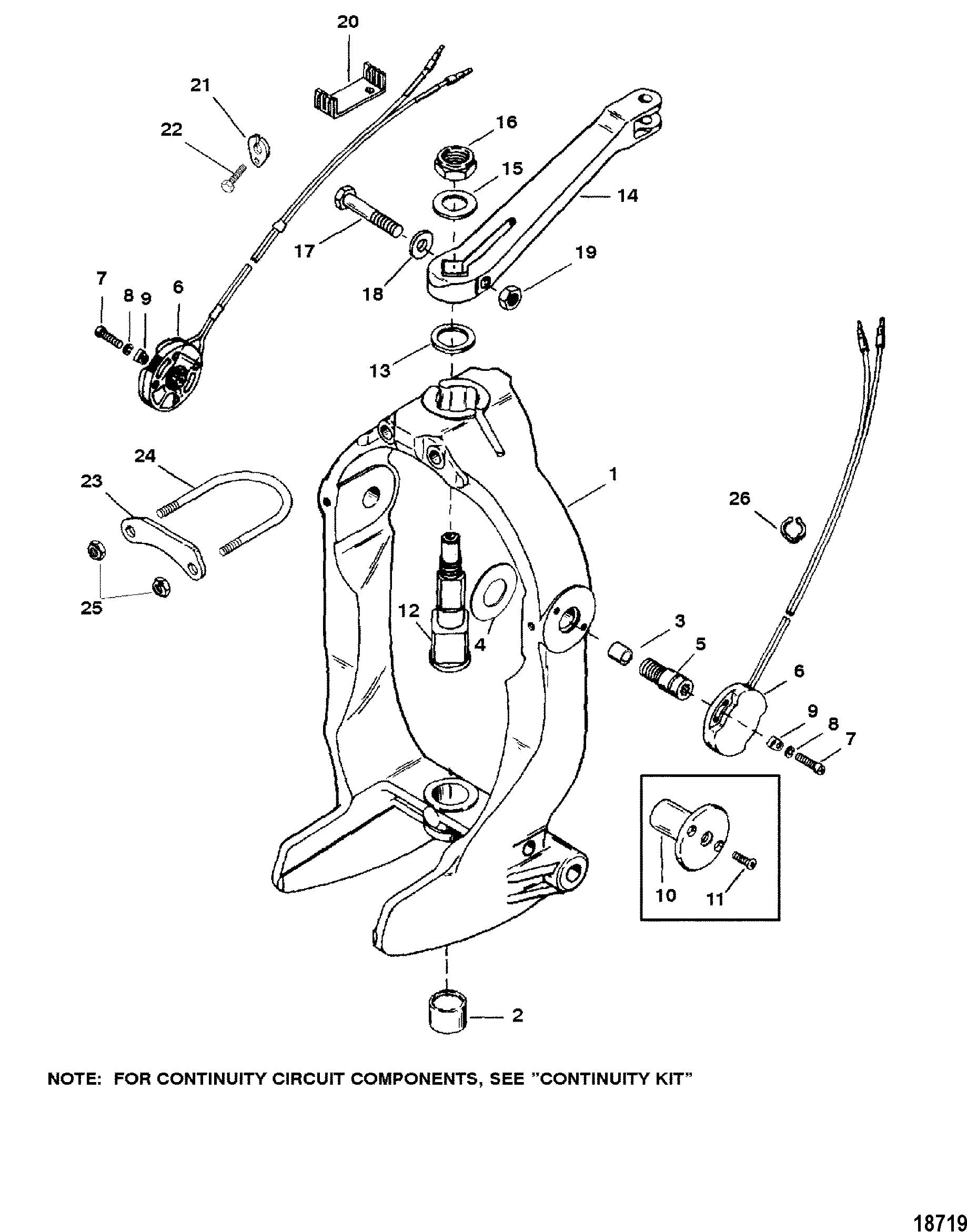 OEM Mercruiser Mercury Gimbal Ring Bell Housing Hinge Screw Bolt 10-86801