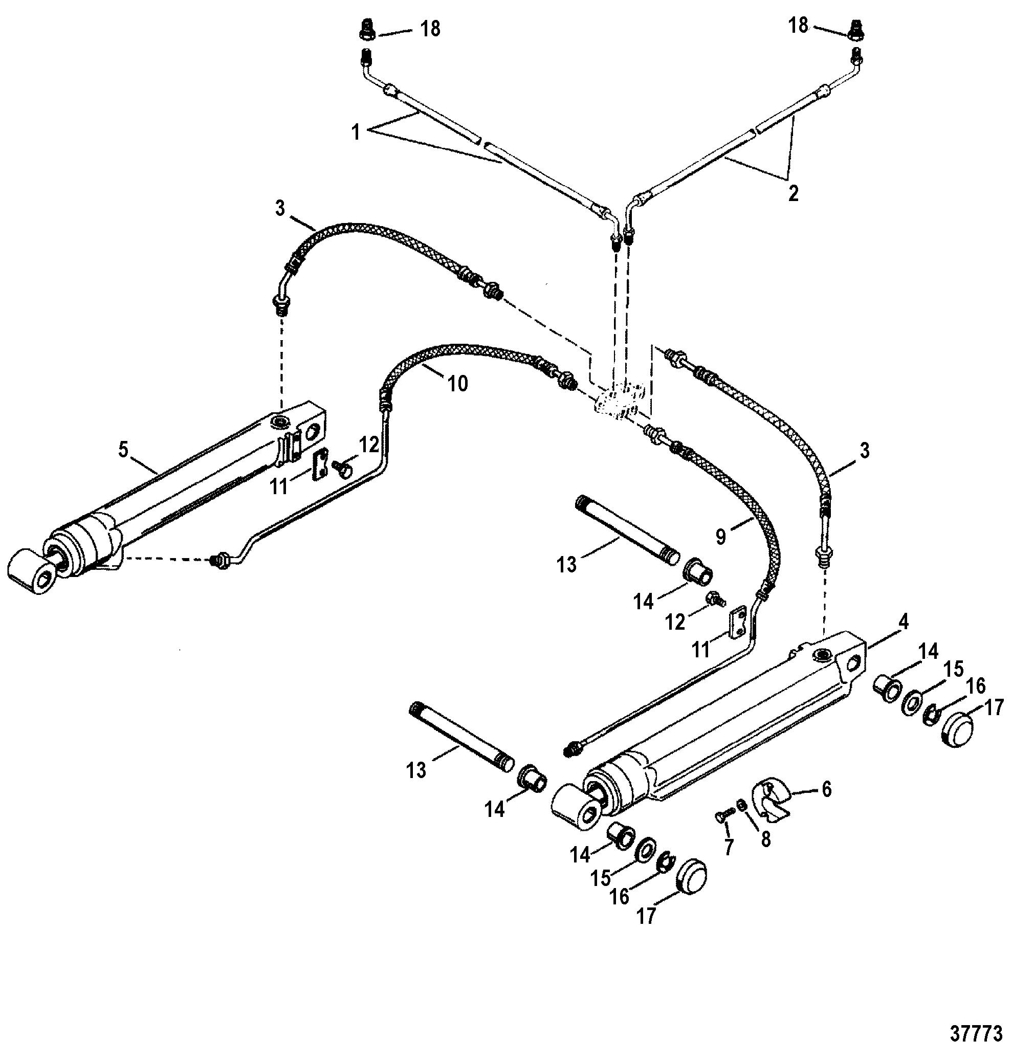 OEM Mercruiser Alpha Gen 2 trim pin shaft  17-815953A01