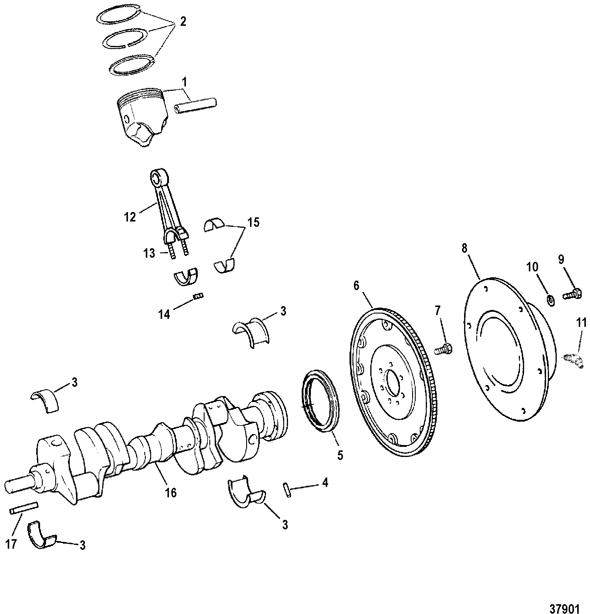 cp performance crankshaft, pistons and connecting rods Marine Engine Wiring Diagram 502 mag mpi (gen 6) gm v 8 1996 serial 0f802600 thru 0k999999 crankshaft, pistons and connecting rods