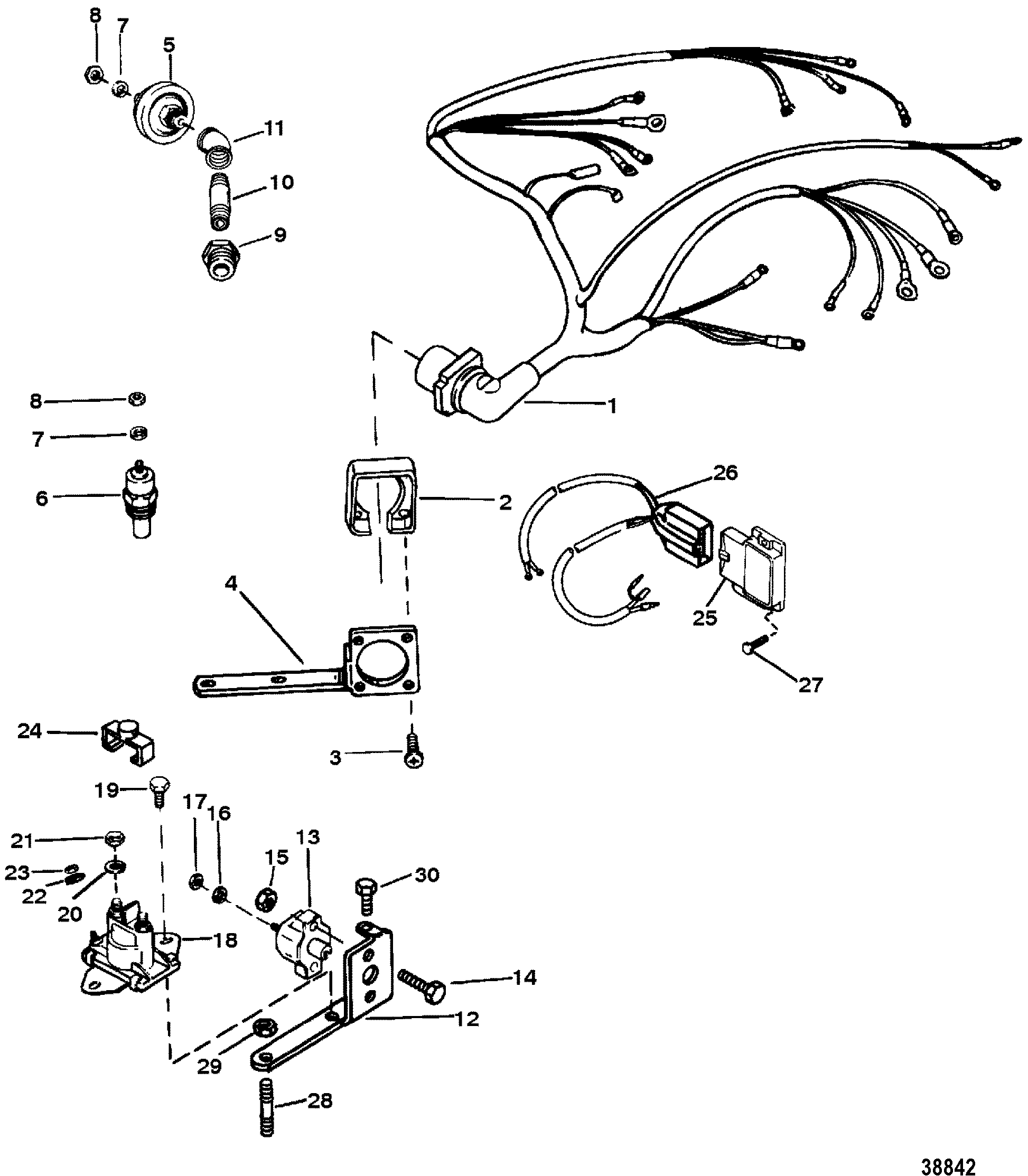 Cp Performance Wiring Harness Electrical Mounted On Distributor 1996 Gmc Diagram Section Drawing Hover Or Click To View Larger