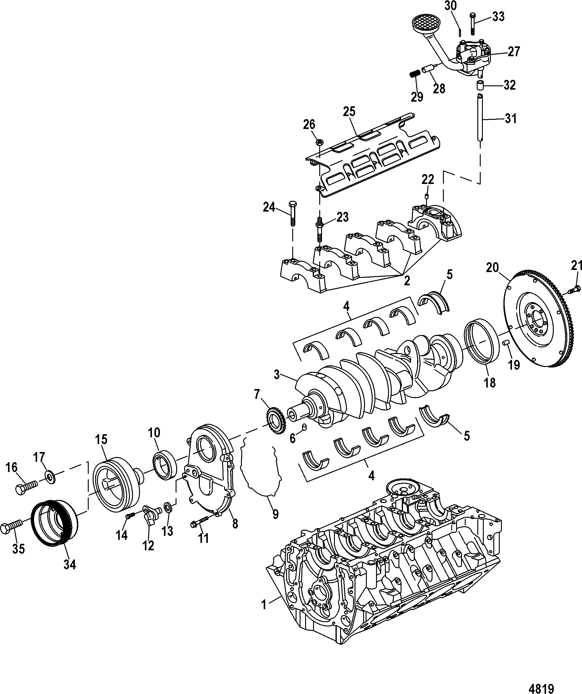 Cp Performance Block Crankshaft Oil Pump And Front Cover