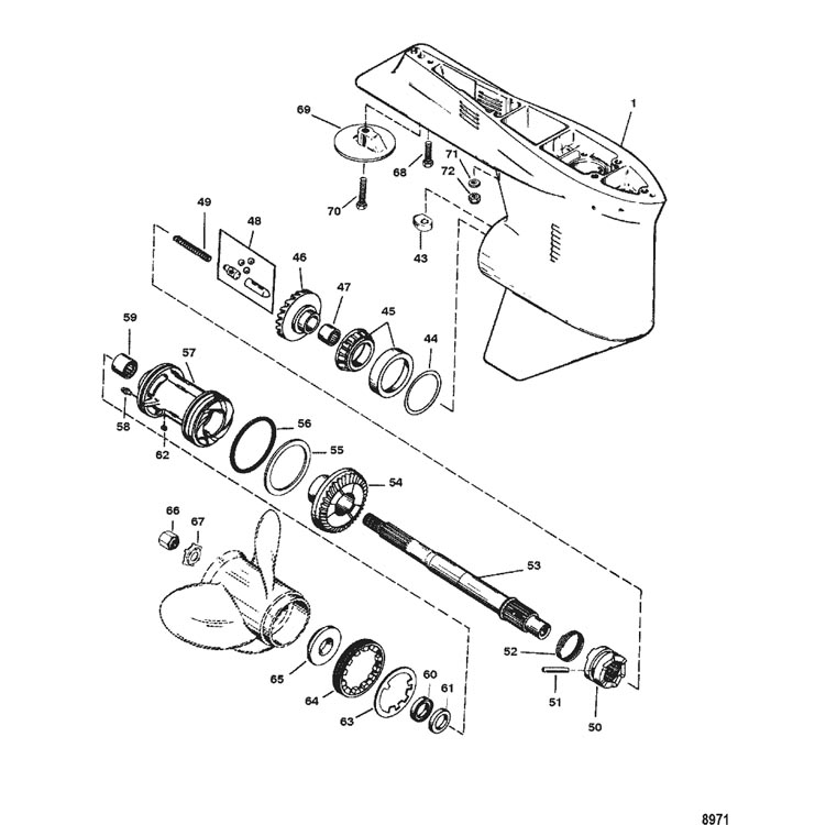 Section Drawing Hover Or Click To View Larger: Mercury 200 Outboard Wiring Diagram At Hrqsolutions.co