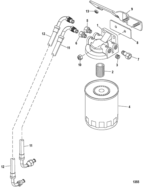 cp performance fuel filter Willys Fuel Filter section drawing hover or click to view larger
