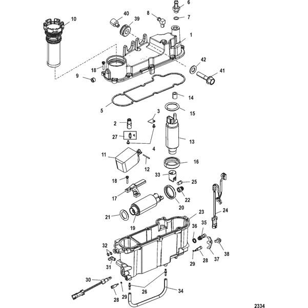 New Mercury Mercruiser Quicksilver Oem Part # 25-855362001 Grommet