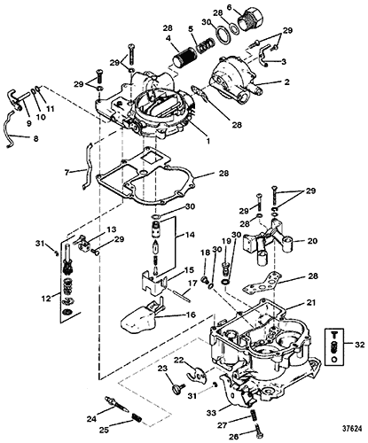cp performance carburetor mercarb 2 barrel Holley Carb Electric Choke Wiring section drawing hover or click to view larger