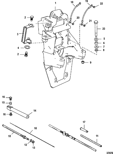Cp Performance Transom Plate And Shift Cable