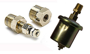 Hardin Marine Water Temperature and Oil Pressure Sender Combo Set for 5 Gauge Kits (Gen II, 2019 and Later Gauges)